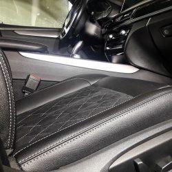 Перетяжка сидений в экожу и алькантару. BMW X5